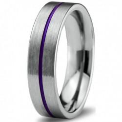 Вольфрамовое Матовое Обручальное (свадебное) кольцо 6мм (мужское, женское) CC900-C600-A