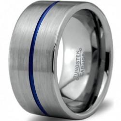 Вольфрамовое Широкое Обручальное (свадебное) кольцо 12мм (мужское, женское) CC7020-C14-A