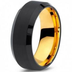 Вольфрамовое Черное Матовое 8мм Свадебное кольцо CJ708-Y-8-A