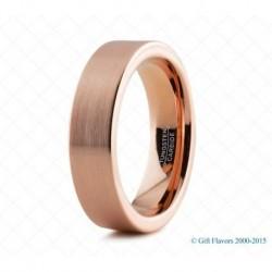 Вольфрамовое Обручальное (свадебное) кольцо с покрытием 18к розовым золотом 6мм 774172308