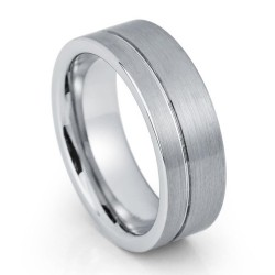 Вольфрамовое Обручальное (свадебное) кольцо (мужское, женское) CS857-B-6