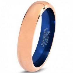 Вольфрамовое Обручальное (свадебное) кольцо 4мм (мужское, женское) с покрытием 18к розовым золотом