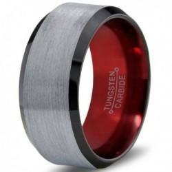 Вольфрамовое Матовое Обручальное (свадебное) кольцо 10мм (мужское, женское)