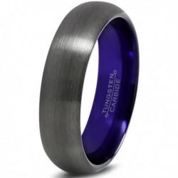 Вольфрамовое Матовое Обручальное (свадебное) кольцо 6мм (мужское, женское)