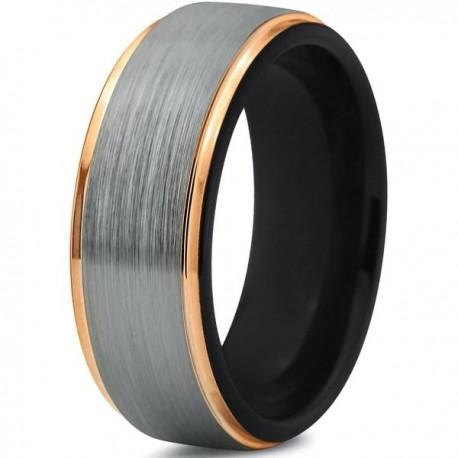 Вольфрамовое Матовое Обручальное (свадебное) кольцо 8мм