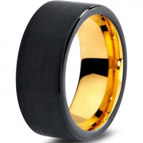 Вольфрамовое Черное Матовое 9мм Обручальное (свадебное) кольцо