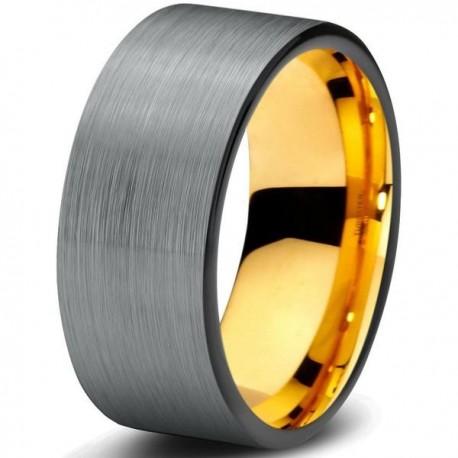 Вольфрамовое Матовое 8мм Обручальное (свадебное) кольцо