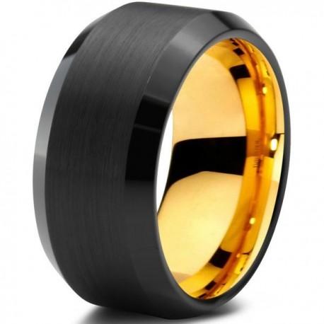 Вольфрамовое Черное Матовое Обручальное (свадебное) кольцо 10мм