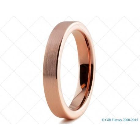 Вольфрамовое Обручальное (свадебное) кольцо с покрытием 18к розовым золотом 4мм