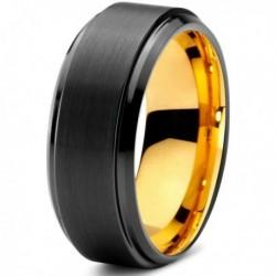 Вольфрамовое Черное Матовое Обручальное (свадебное) кольцо 8мм