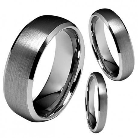 Вольфрамовое Матовое Обручальное (свадебное) кольцо  (мужское, женское) CS821-B-4-6-8
