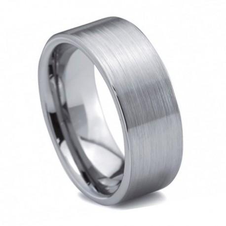 Вольфрамовое Обручальное (свадебное) кольцо (мужское, женское) CS212-B-8