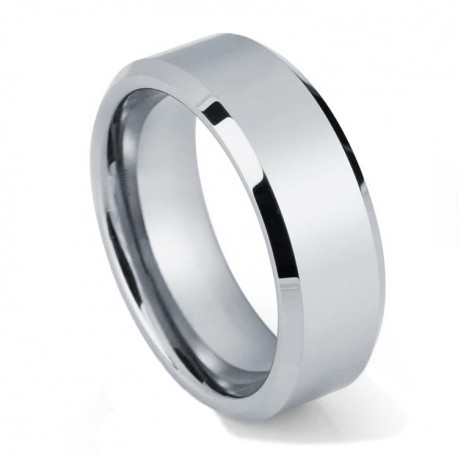 Вольфрамовое Обручальное (свадебное) кольцо (мужское, женское) CS808-B-8