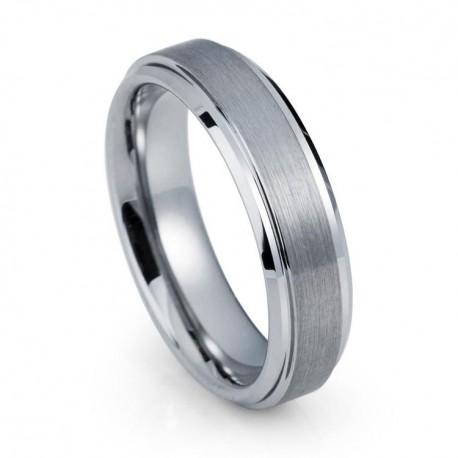 Вольфрамовое Обручальное (свадебное) кольцо (мужское, женское) CS825-B-6