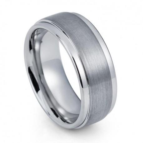 Вольфрамовое Обручальное (свадебное) кольцо (мужское, женское) CS825-B-8