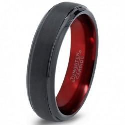 Вольфрамовое Матовое Обручальное (свадебное) кольцо 6мм (мужское, женское) CC945-C100-A