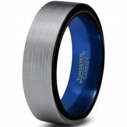 Вольфрамовое Матовое Обручальное (свадебное) кольцо 6мм (мужское, женское) CJ8801-A