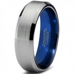 Вольфрамовое Матовое Обручальное (свадебное) кольцо 4мм (мужское, женское) CC7015-C14-A