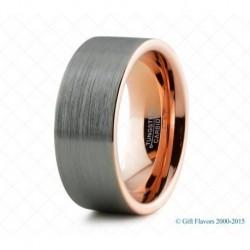 Вольфрамовое Обручальное (свадебное) (свадебное) Матовое кольцо с покрытием 18к розовым золотом 774211647