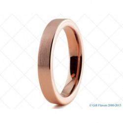 Вольфрамовое Обручальное (свадебное) кольцо с покрытием 18к розовым золотом 4мм 773213358