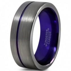 Вольфрамовое Матовое Обручальное (свадебное) кольцо 8мм (мужское, женское) CC905-C600-A