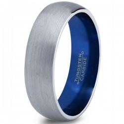 Вольфрамовое Матовое Обручальное (свадебное) кольцо 6мм (мужское, женское) CC7011-C14-A-6