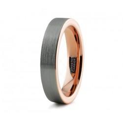 Вольфрамовое Обручальное (свадебное) кольцо с покрытием 18к розовым золотом 4мм 774400199-4