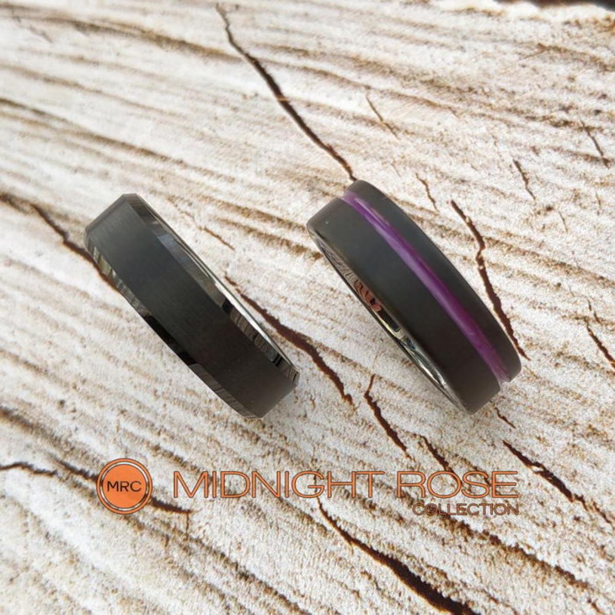 Черные обручальные кольца под заказ фото