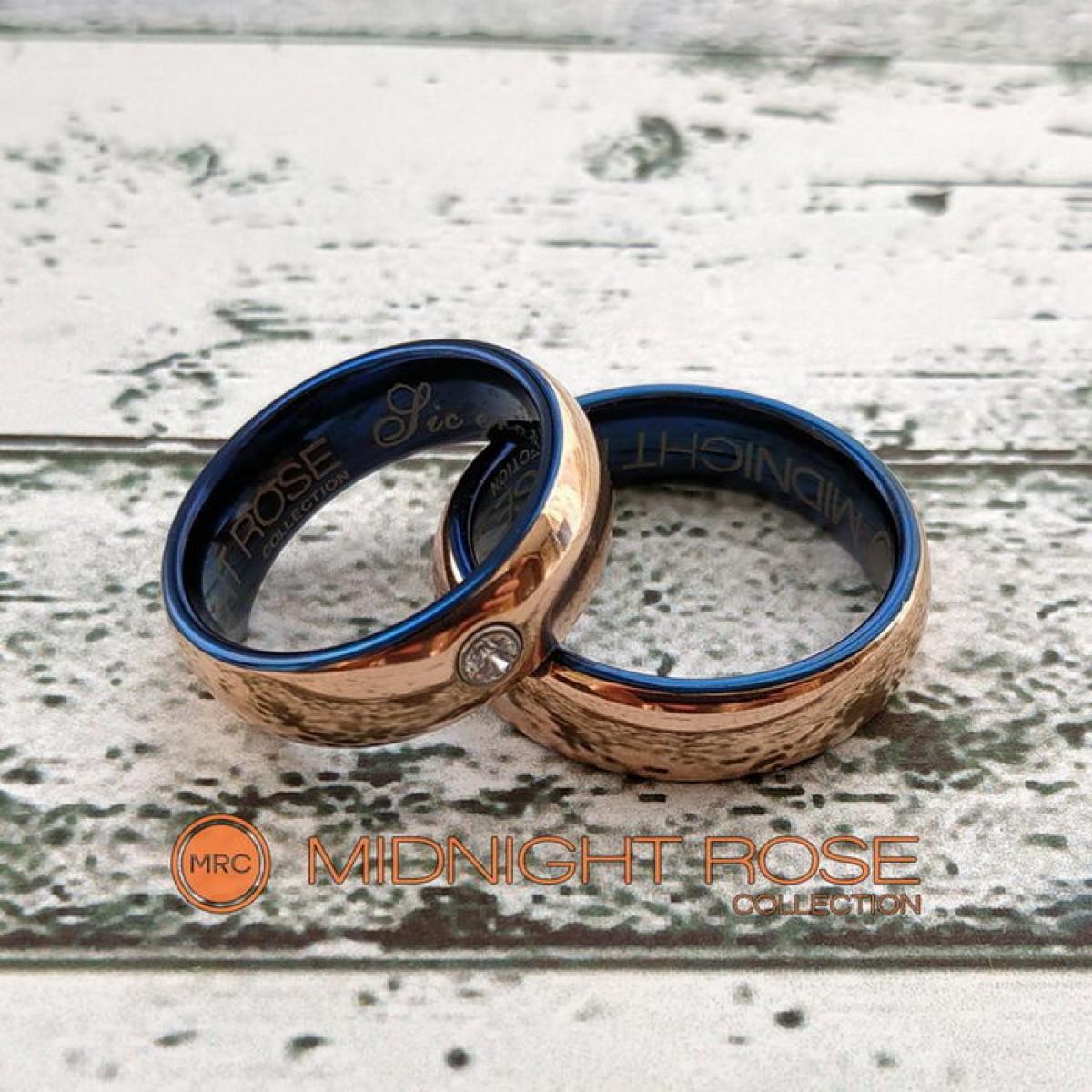 Золотые вольфрамовые обручальные кольца фото