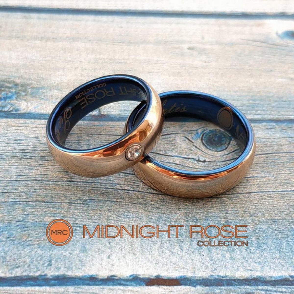 Золотые вольфрамовые свадебные кольца фото