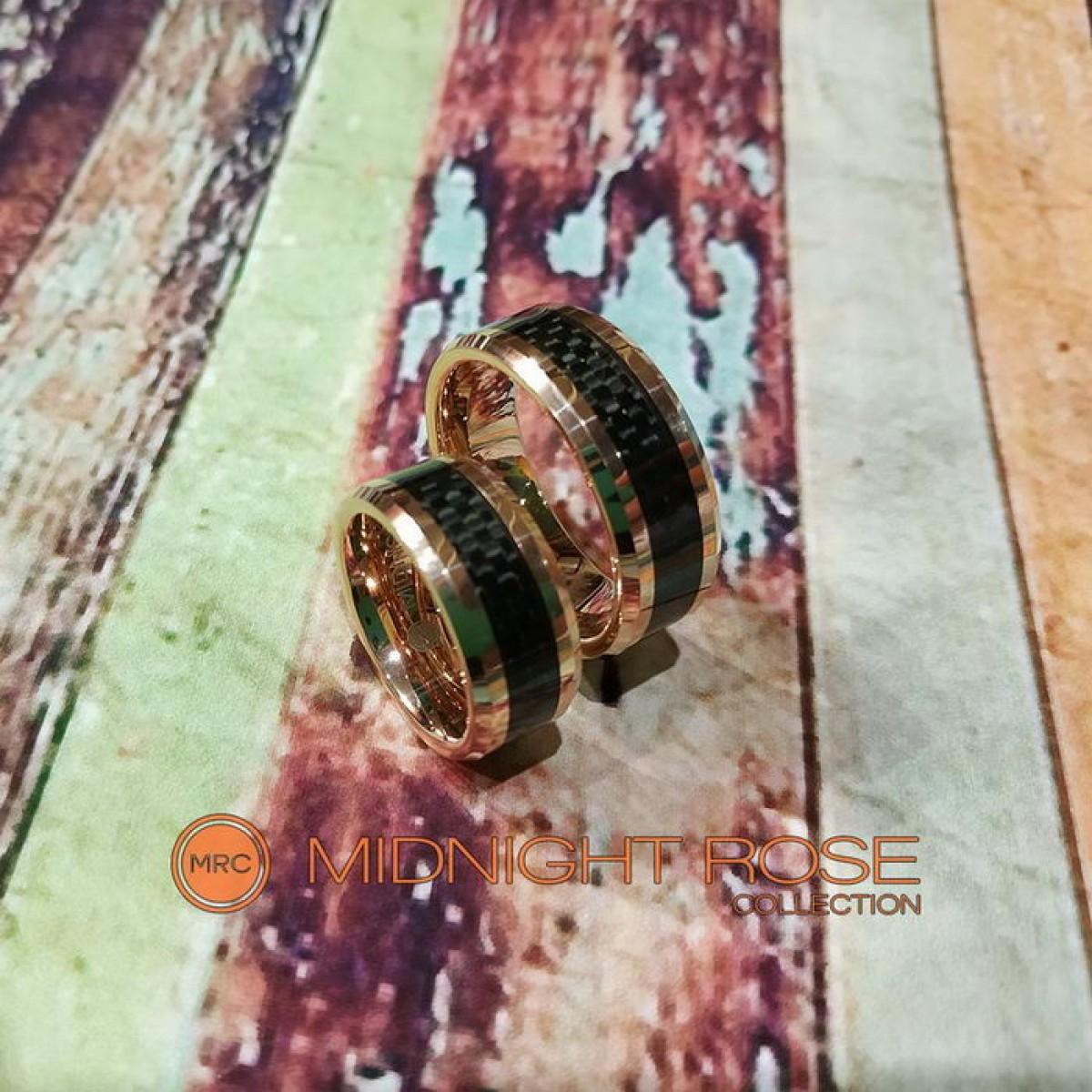 Дизайнерские обручальные вольфрамовые кольца фото