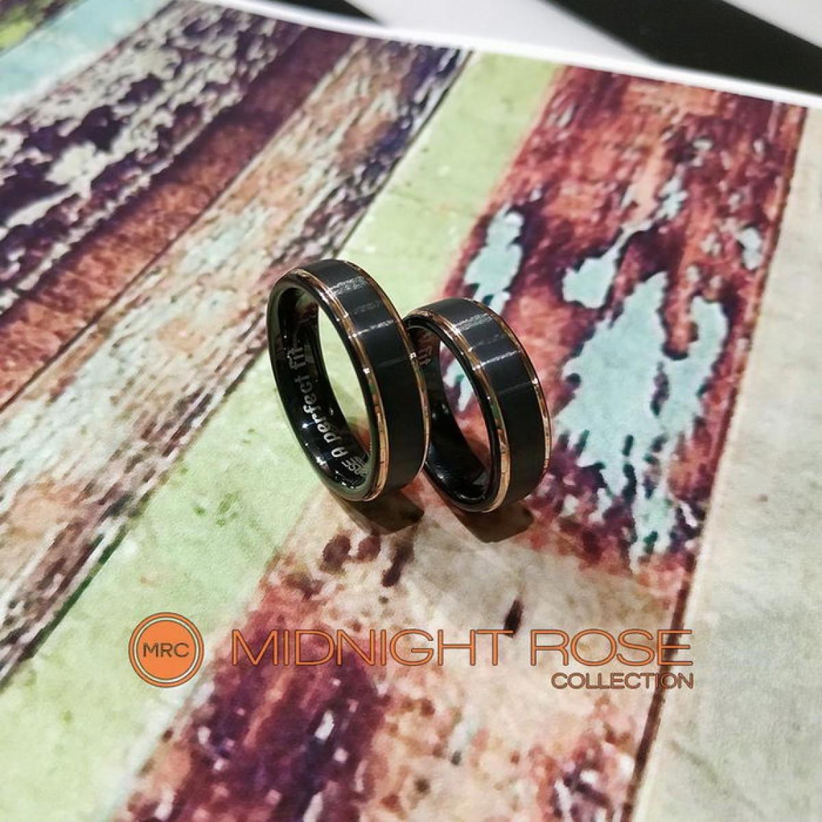 Черные обручальные кольца фото
